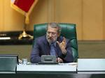 کراپشده - علی لاریجانی رئیس مجلس