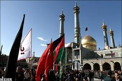 قم سیاهپوش امام نهم شیعیان شد