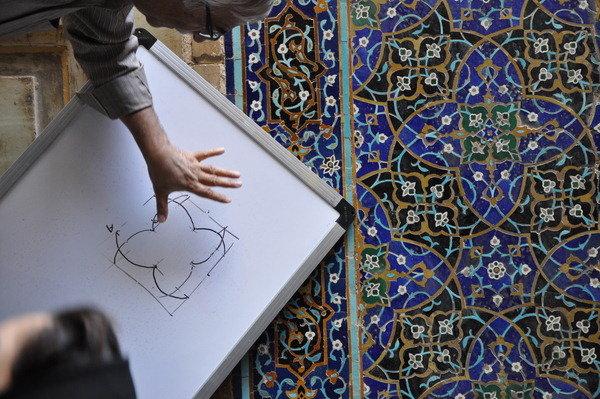 بخش شمالی بام بنای ثبت جهانی مسجد جامع اصفهان مرمت شد