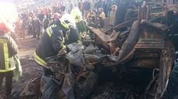 انفجار یک دستگاه تانکر حامل موادسوختی در مشهد جان راننده آن را گرفت