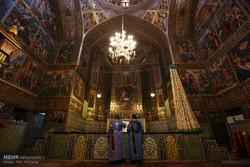 آغاز سال نو میلادی در کلیسای وانک اصفهان