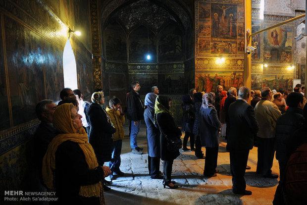 مراسم تعمید حضرت مسیح(ع) در کلیسای بیت اللحم اصفهان