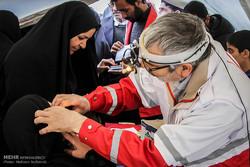 ارائه خدمت درمانی به ۳۲هزار زائر اربعین توسط پایگاه هلال احمر یزد