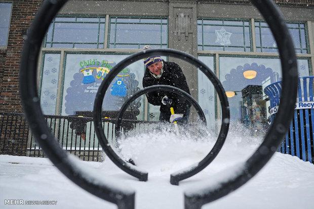 snow-and-cold-in-america٬ برف شدید در امریکا٬ برف و بارن در آمریکا٬ سرما در آمریکا٬ کولاک در امریکا , مجله مراحم