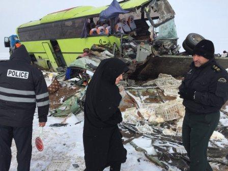تصادف در محور سراب - بستان آباد