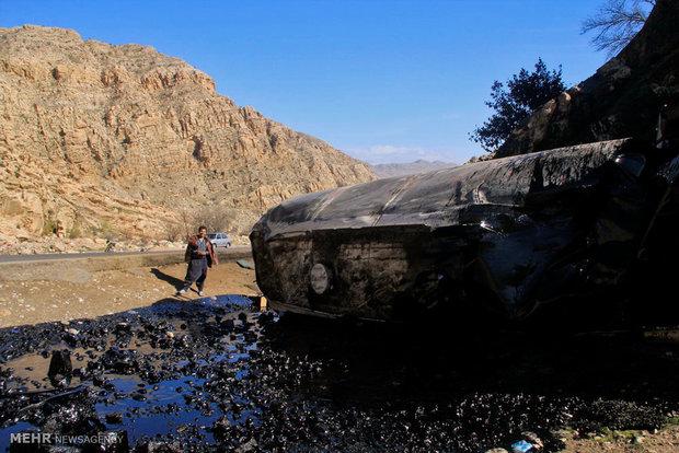 تصادف تانکر نفتکش عراقی حامل سوخت