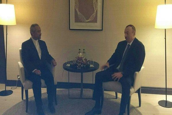 دیدار نهاوندیان با رئیس جمهور آذربایجان در حاشیه اجلاس داووس