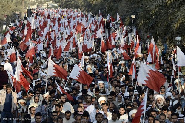 Bahreyn halkı liderini böyle savundu / Video