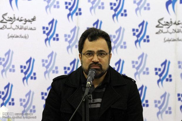 سید مسعود شجاعی طباطبایی مدیر خانه کاریکاتور ایران در نشست خبری دومین دوره مسابقات بین المللی کاریکاتور هولوکاست