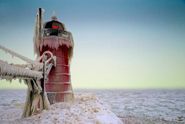 تصاویر زیبای یخبندان در میشیگان آمریکا 3
