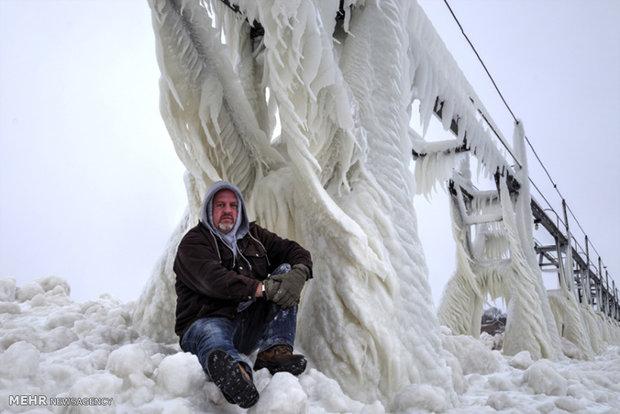تصاویر زیبای یخبندان در میشیگان آمریکا 77