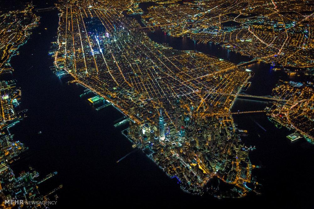 تصاویر هوایی از نیویورک