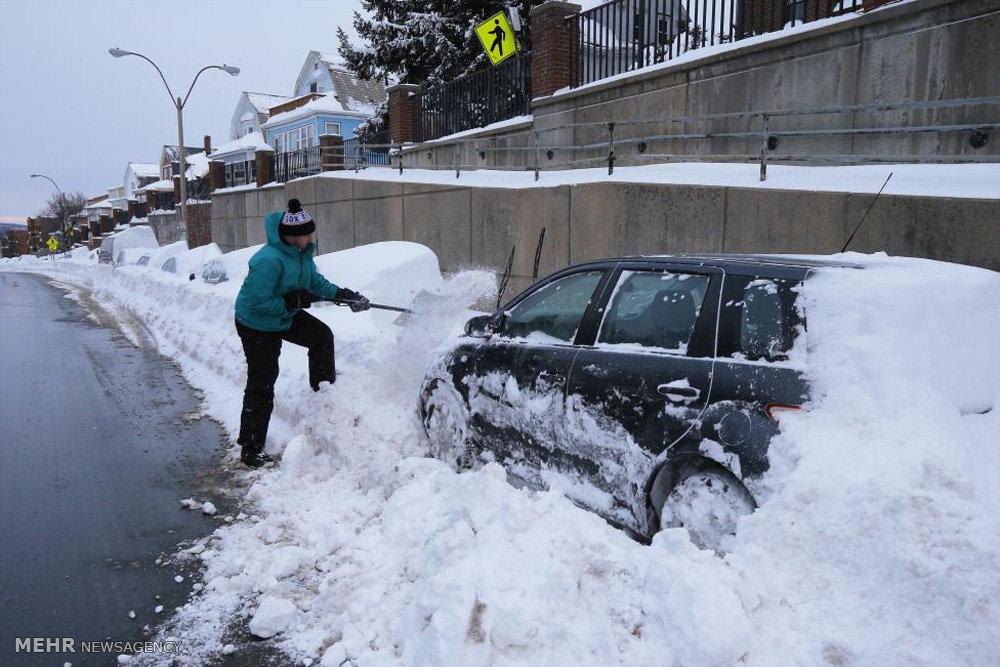 بارش برف شدید در آمریکا