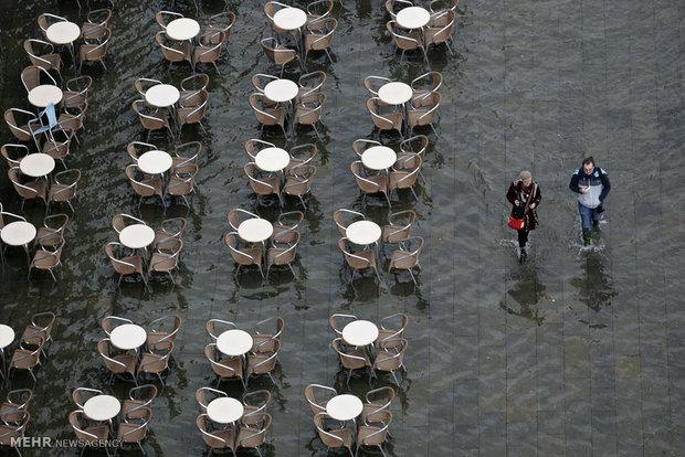 781724 - تصاویر جالب از بالا آمدن سطح آب در ونیز