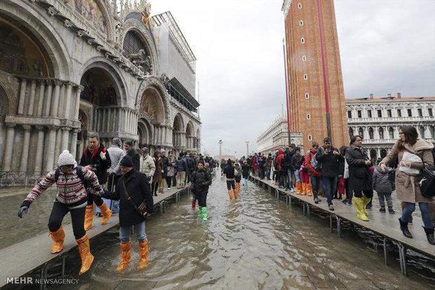 781727 - تصاویر جالب از بالا آمدن سطح آب در ونیز