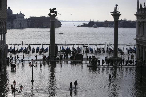 781731 - تصاویر جالب از بالا آمدن سطح آب در ونیز