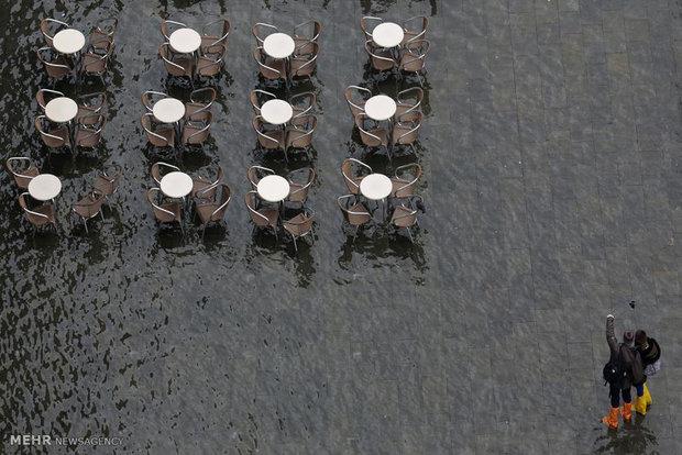 781733 - تصاویر جالب از بالا آمدن سطح آب در ونیز