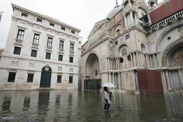 781736 - تصاویر جالب از بالا آمدن سطح آب در ونیز