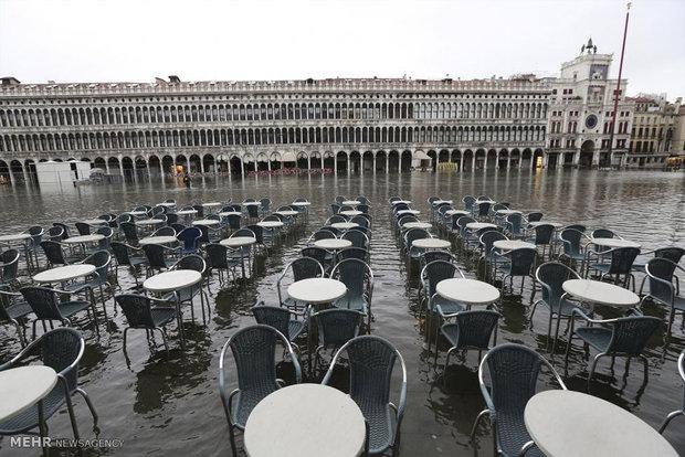781738 - تصاویر جالب از بالا آمدن سطح آب در ونیز