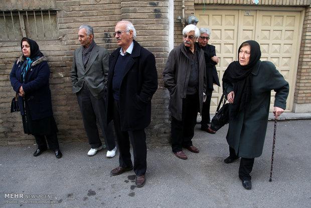 تشییع محسن باقرزاده مدیر انتشارات توس