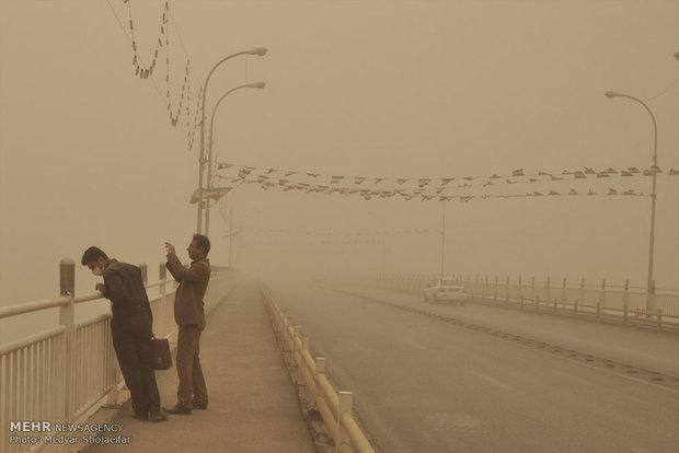 گرد و غبار شدید در خوزستان