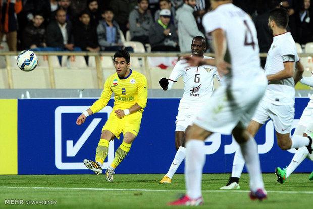 دیدار تیمهای فوتبال نفت تهران و الجیش قطر