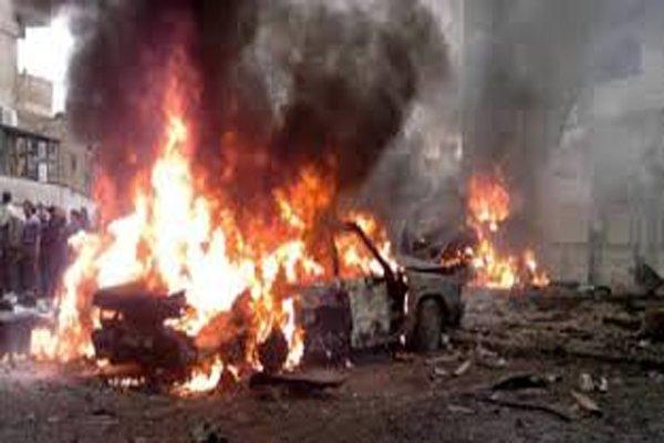 إصابة ۲۵ مواطنا في تفجير إرهابي بسيارة مفخخة في حي كرم اللوز بمدينة حمص