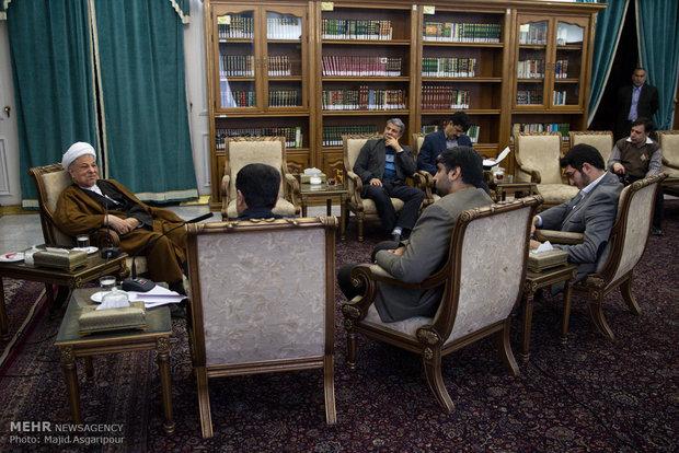 گفتگوی مهر با هاشمی رفسنجانی