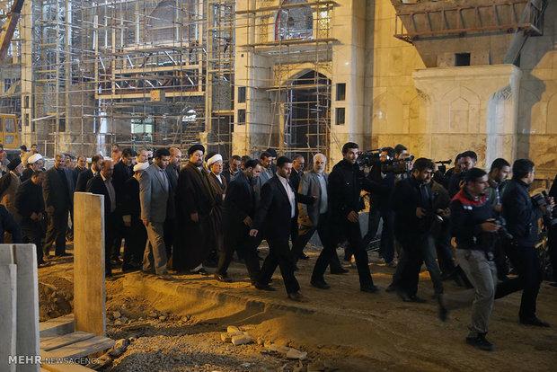 بازدید رئیس مجمع تشخیص مصلحت نظام از طرح توسعه مرقد امام (ره)
