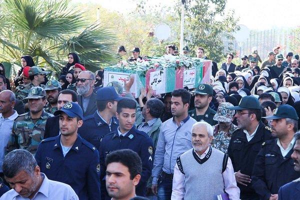 پیکر دو شهید گمنام وارد بوشهر شد