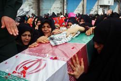 تشییع ۱۱ شهید گمنام در استان تهران/مردم حماسه آفریدند