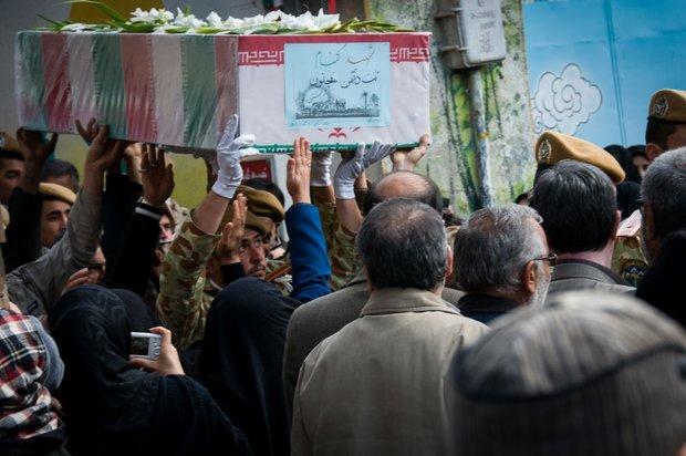 تشییع شهید گمنام در شاهرود