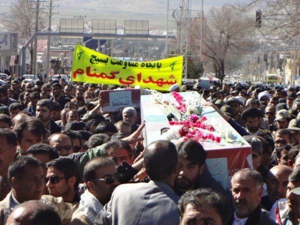 پیکر مطهر سه شهید گمنام در یاسوج تشییع شد