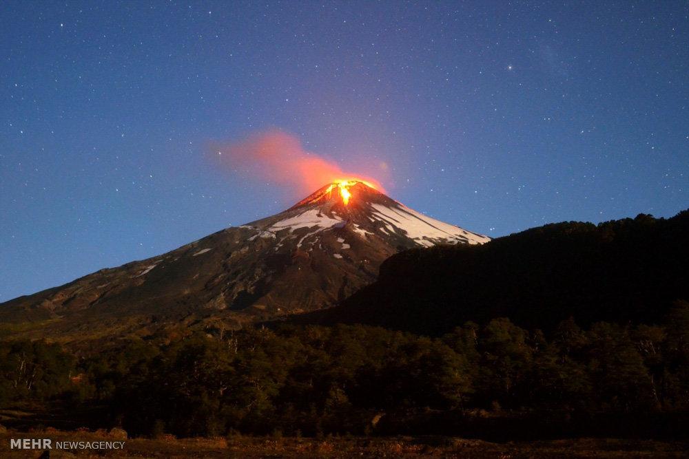 فوران آتشفشان در شیلی