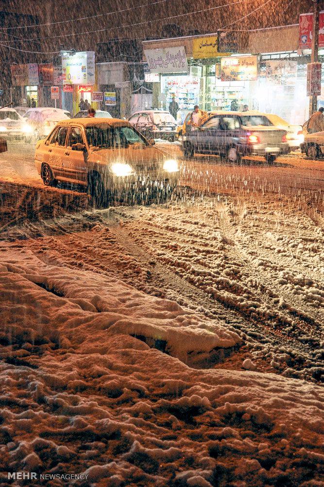 بارش برف در زاهدان