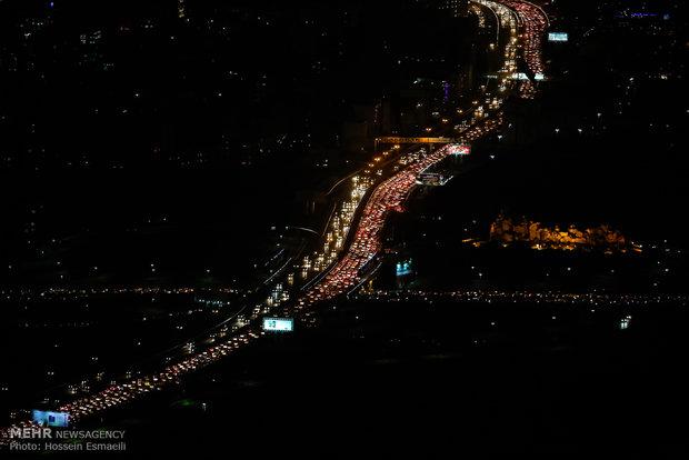 ترافیک سنگین در اتوبانهای منتهی به غرب