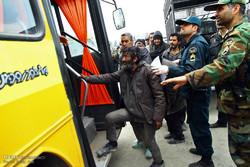 عملیات سراسری پاکسازی  و دستگیری معتادان اسماعیل آباد مشهد