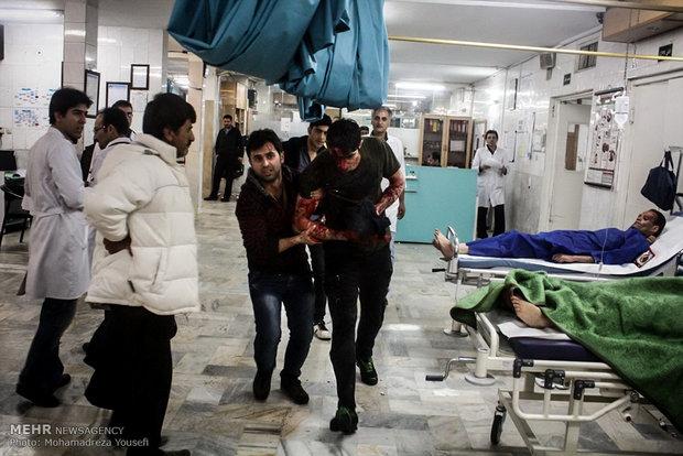 مصدومان آخرین چهارشنبه سال در بیمارستان شهید رجایی قزوین