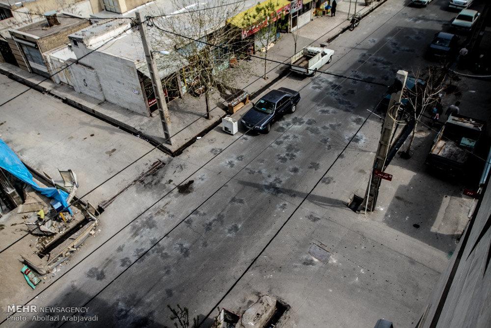 چهره شهر یک روز پس از چهارشنبه سوری