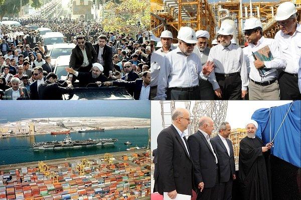 ۲ سفر رئیس جمهور به استان بوشهر/افتتاح بزرگترین پروژه صنعتی کشور