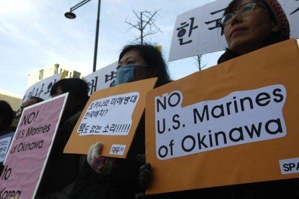 آمریکا به ساخت پایگاه هوایی در اوکیناوای ژاپن ادامه میدهد