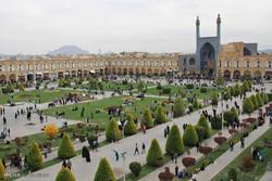 مهمانان نوروزی در میدان امام(ره) اصفهان