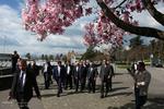 پیادهروی ظریف بعد از اتمام دور اول مذاکرات ایران و آمریکا