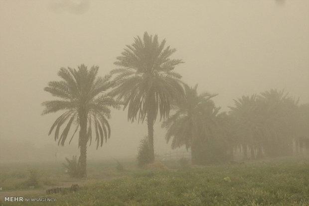 گرد و غبار خارجی در راه خوزستان بارانی