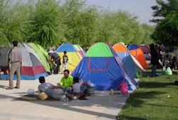 ۸۵۰۰ نفر مسافر نوروزی در پارک های ملت ونسیم سنندج اسکان داده شدند