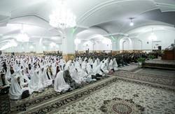 جشن ازدواج بیش از ۵۰ زوج استاد و کارمند پیام نور در مشهد مقدس