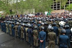 تجمع مردمی مقابل سفارت عربستان در واکنش به تعرض به ۲ نوجوان ایرانی