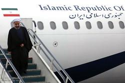 الرئيس روحاني يصل إلى محافظة هرمزكان للقيام بجولة تفقدية
