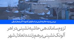 بررسی پدیده حاشیه نشینی در استانهای کشور - ۸/ آذربایجان شرقی