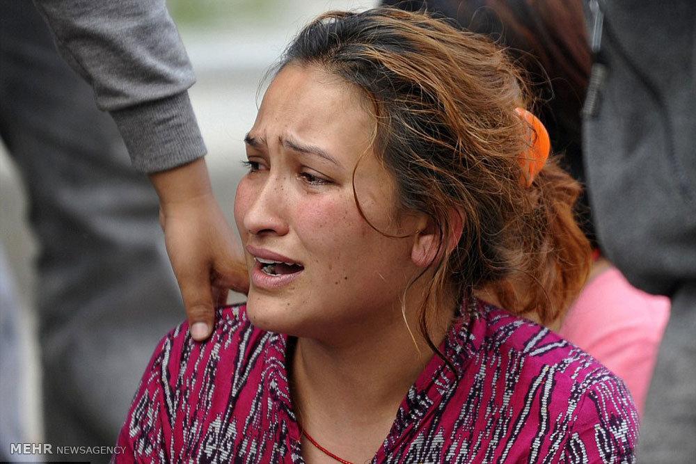 سوزاندن اجساد جان باختگان زلزله نپال